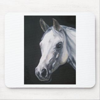 Alfombrilla De Ratón Un caballo blanco