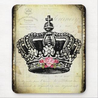 Alfombrilla De Ratón una corona del vintage