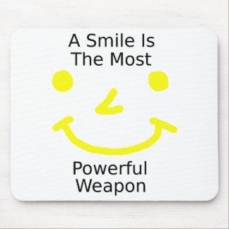 Alfombrilla De Ratón Una sonrisa es el arma más potente (la cara