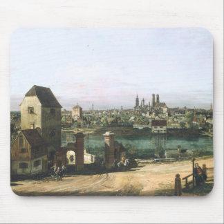 Alfombrilla De Ratón Una vista de la ciudad alemana Munich de B.