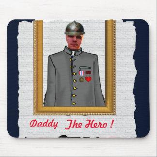 Alfombrilla De Ratón Uniform Officer Sordier, Grey, - with YOUR Photo -