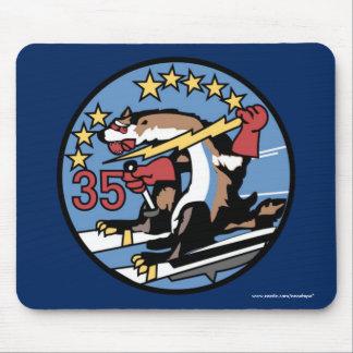 """Alfombrilla De Ratón USAFA Squadon 35"""" cojín de ratón de las comadrejas"""