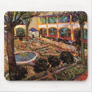 Alfombrilla De Ratón Van Gogh el patio del hospital en Arles