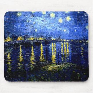 Alfombrilla De Ratón Van Gogh - noche estrellada sobre el Rhone