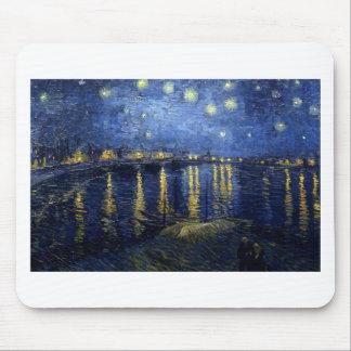 Alfombrilla De Ratón Van Gogh: Noche estrellada sobre el Rhone