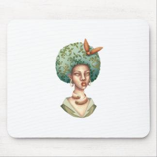 Alfombrilla De Ratón Vaya con para - la señora con arte único del Afro