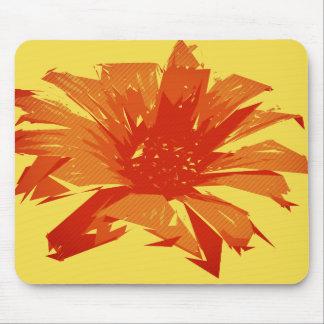 Alfombrilla De Ratón Verano floral abstracto Duotone
