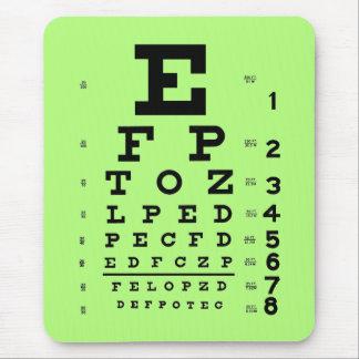 Alfombrilla De Ratón Verde médico de la carta de ojo de la optometría