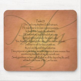 Alfombrilla De Ratón Verso cristiano de la biblia del salmo 23 KJV