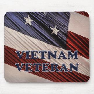 Alfombrilla De Ratón Veterano patriótico militar de Vietnam de la