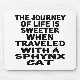 Alfombrilla De Ratón Viajado con el gato de Sphynx