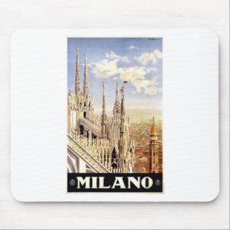 Alfombrilla De Ratón Viaje de Milano del vintage