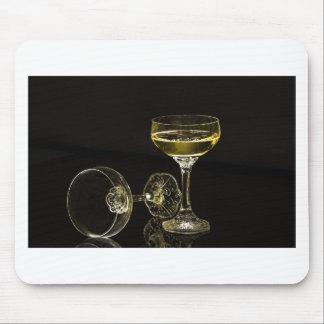 Alfombrilla De Ratón vidrios del champán