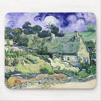 Alfombrilla De Ratón Vincent van Gogh el   cubrió con paja las cabañas