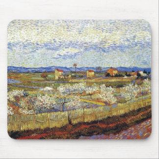Alfombrilla De Ratón Vincent van Gogh - La Crau con los árboles de
