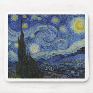 Alfombrilla De Ratón Vincent van Gogh - noche estrellada. Pintura del