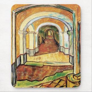 Alfombrilla De Ratón Vincent van Gogh - pasillo del hospital de Saint