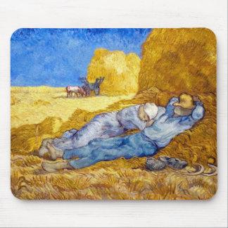 Alfombrilla De Ratón Vincent van Gogh - resto del mediodía del trabajo