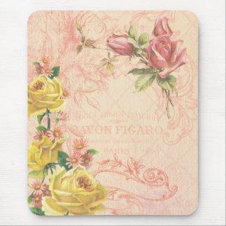 Alfombrilla De Ratón Vintage elegante Mousepad floral