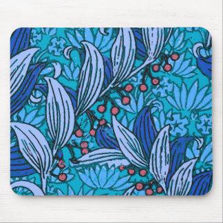 Alfombrilla De Ratón Vintage floral azul