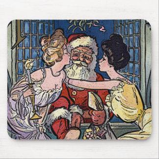 Alfombrilla De Ratón Vintage Papá Noel