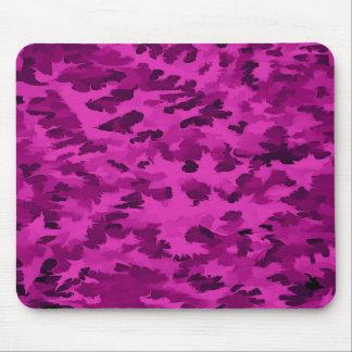 Alfombrilla De Ratón Violeta abstracta del arte pop del follaje