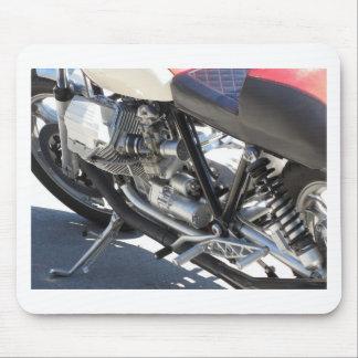 Alfombrilla De Ratón Vista lateral cromada motocicleta del detalle del