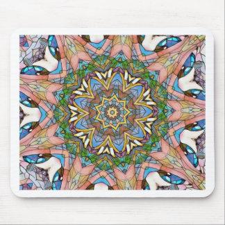 Alfombrilla De Ratón Vitral artístico en colores pastel fresco bonito