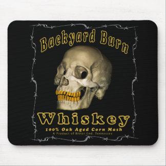 Alfombrilla De Ratón Whisky de la quemadura del patio trasero