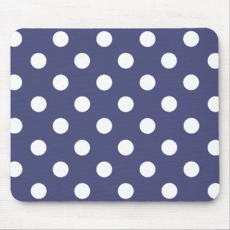Alfombrilla De Ratón White polka dots in blue
