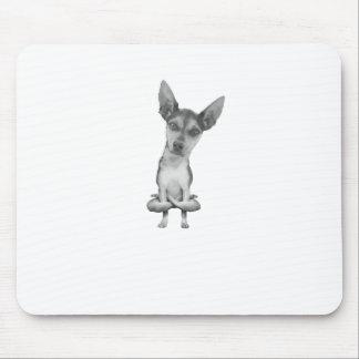 Alfombrilla De Ratón Yogi Doggie cute dog in yoga asana , cool funny