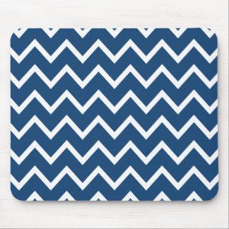 Alfombrilla De Ratón Zigzag azul Chevron de Mónaco