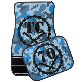 Alfombrilla Para Coche Alambre de púas azul personalizado de los