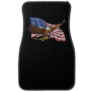 Alfombrilla Para Coche Bandera americana y esteras negras del coche y del