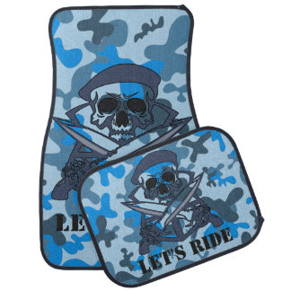 Alfombrilla Para Coche Camuflaje personalizado Camo del gris azul de la