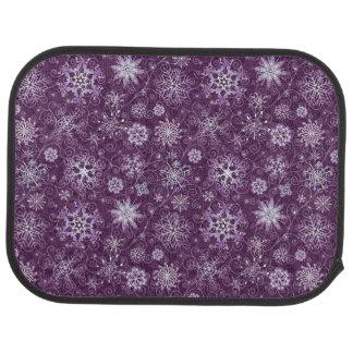 Alfombrilla Para Coche Copos de nieve púrpuras para el dolor crónico