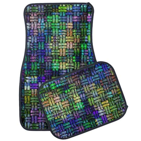 Alfombrilla Para Coche Crochet colorful pattern