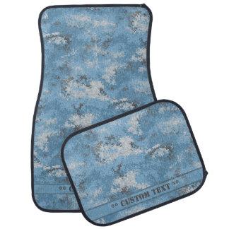 Alfombrilla Para Coche Digi azul Camo con el texto de encargo