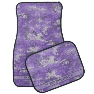 Alfombrilla Para Coche Digi púrpura Camo con el texto de encargo