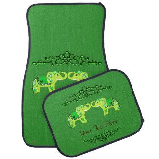 Alfombrilla Para Coche Elefante de la alheña (verde/verde lima)
