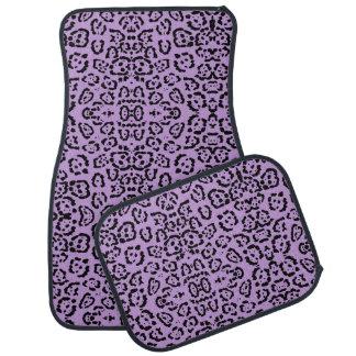 Alfombrilla Para Coche Estampado de animales púrpura del leopardo