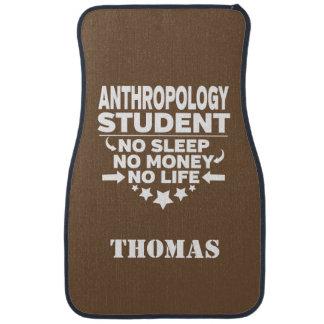 Alfombrilla Para Coche Estudiante personalizado de la antropología ningún