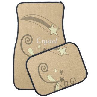 Alfombrilla Para Coche Flourish blanco personalizado del Shooting Stars