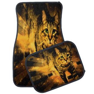 Alfombrilla Para Coche Fuego del gato del olvido de la travesía