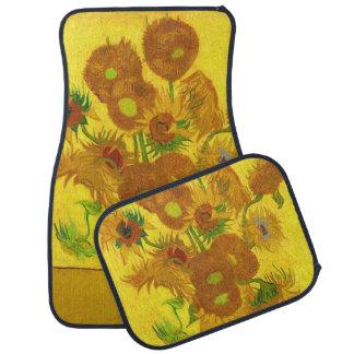 Alfombrilla Para Coche Girasoles de Van Gogh quince en una bella arte del