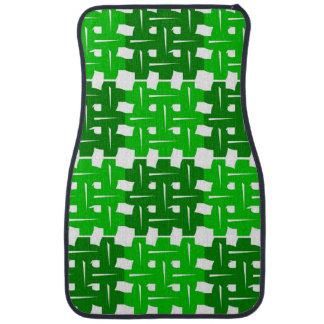 Alfombrilla Para Coche Green and white grid pattern
