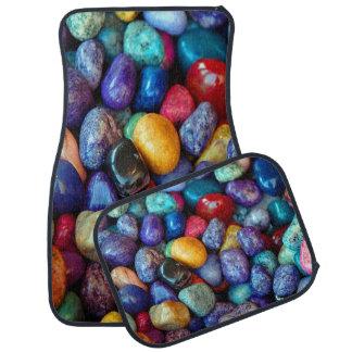Alfombrilla Para Coche Guijarros coloridos y piedras fijados de 4
