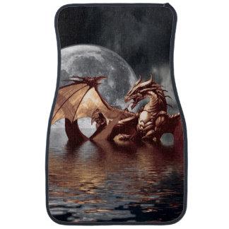Alfombrilla Para Coche Ilustraciones de la fantasía del dragón y de la