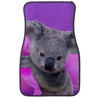 Alfombrilla Para Coche Koala y orquídeas