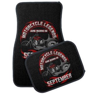 Alfombrilla Para Coche Las leyendas de la motocicleta nacen en septiembre